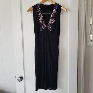 Roberto Cavalli Sequin Embellished V-Neck Dress